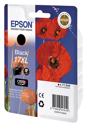 Картридж EPSON 17XL XP103/203/207 black (C13T17114A10)