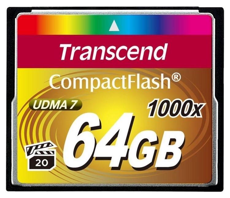 Карта памяти Transcend CF 64GB 1000X (TS64GCF1000)