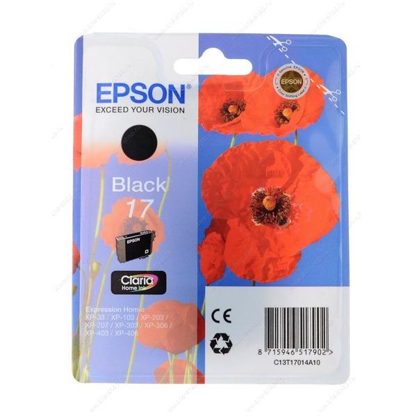Картридж для струйных принтеров Epson 17 XP103/203/207 black