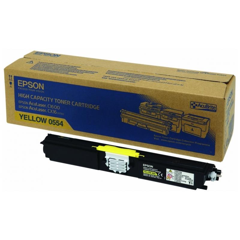 Картридж Epson Aculaser C1600/ CX16 Yellow, 2700 стр. (C13S050554)