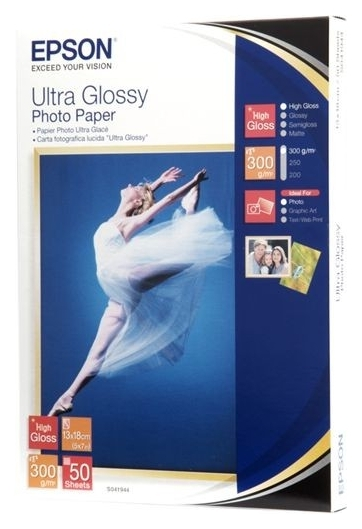 Бумага Epson 130mmx180mm Ultra Glossy Photo Paper, 50л. (C13S041944)