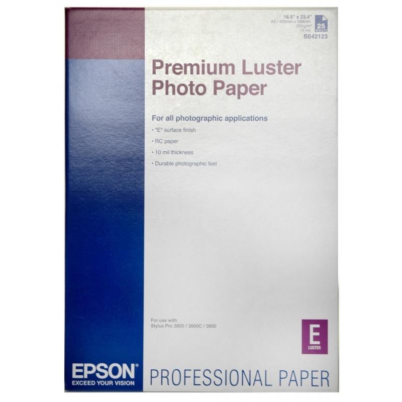 Бумага Epson A2 Premium Luster Photo Paper, 25л. (C13S042123)
