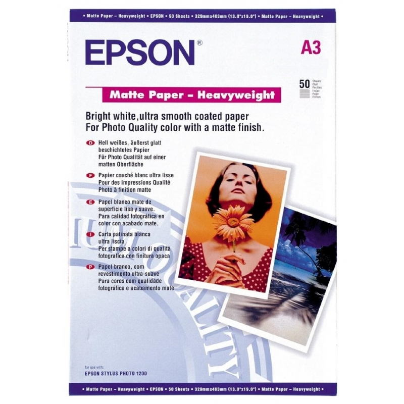 Бумага Epson A3 Matte Paper Heavyweight, 50л. (C13S041261)