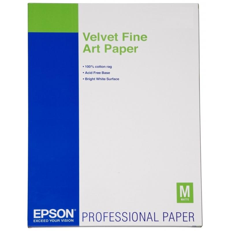 Бумага Epson A3+ Velvet FineArt Paper, 20л. (C13S041637) 2018