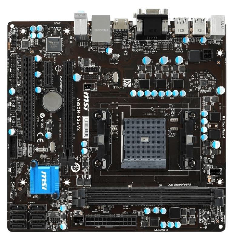 Материнская плата MSI A88XM-E35 V2 (sFM2/FM2 +, AMD A88X) mATX