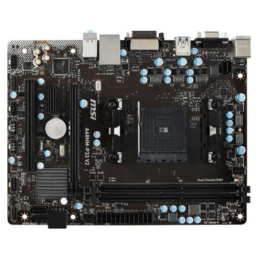 Материнская плата MSI A68HM-P33 V2 (sFM2/FM2 +, AMD A68H) mATX
