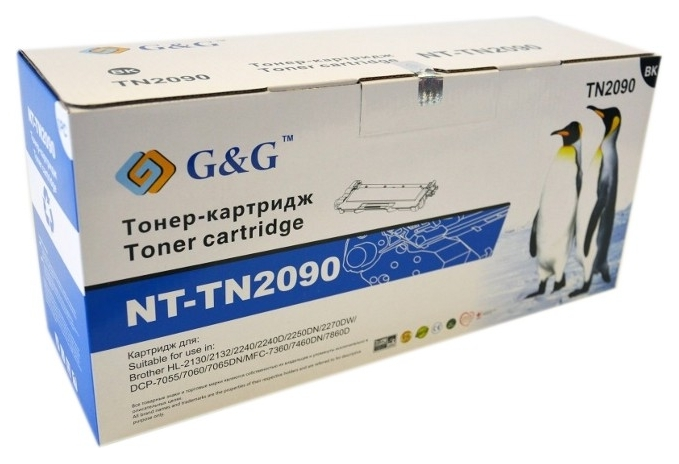 Картридж G&G для Brother HL-2132R, DCP-7057 Black (G&G-TN2090)