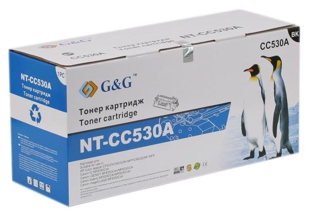 Картридж G&G для Canon LBP-7200/7210/7660/7680/8340/8350/8360/8380/8540/8550/8580 Black-CC530A (G&G-718BK)