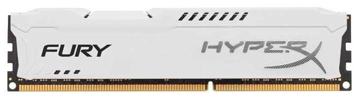Память Kingston HyperX Fury White 1x8Gb, DDR3, 1866Mhz, PC3-14900 (HX318C10FW/8)