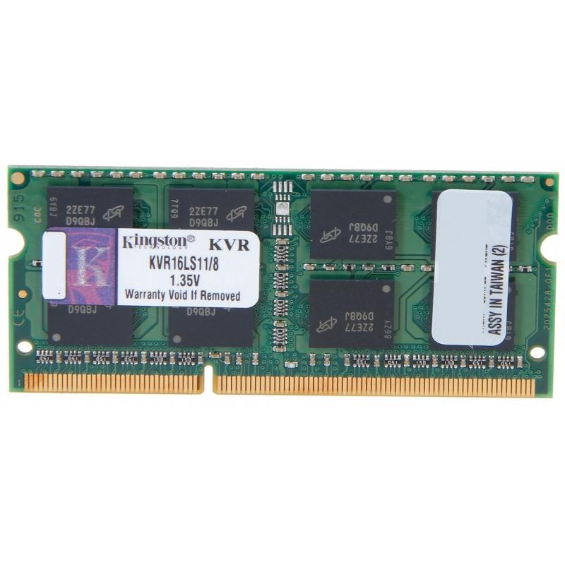 Память SoDimm Kingston 1x8Gb DDR3 1600MHz (KVR16LS11/8)