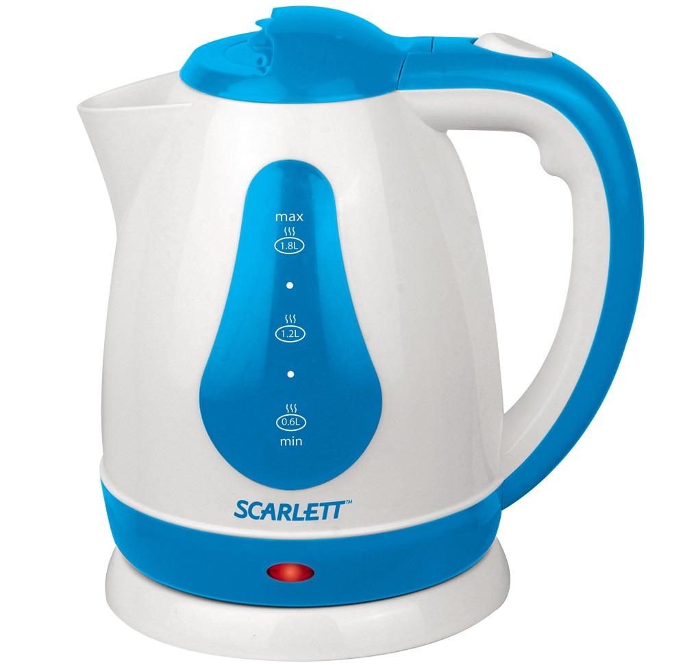Чайник SCARLETT SC EK18 P29 (white-blue)