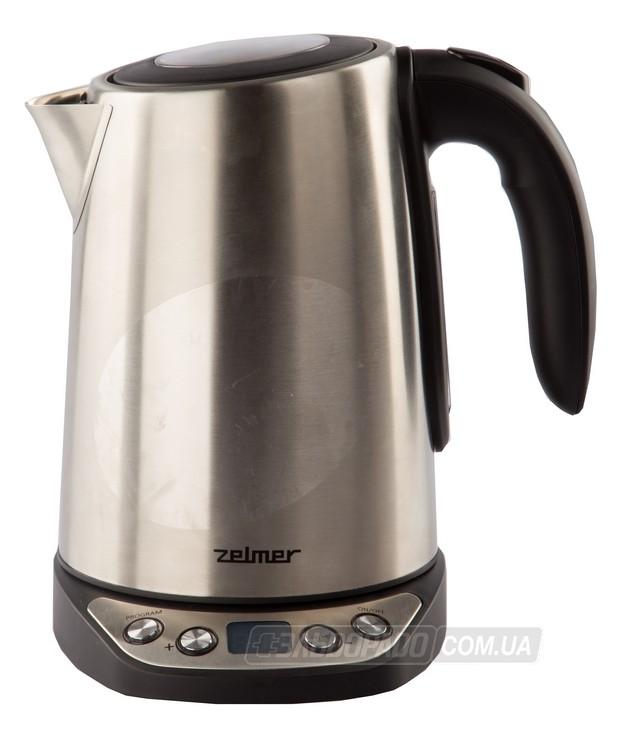 Чайник zelmer 332 silver / 2000вт, 17 литра, закрытая спираль, серебро/белый