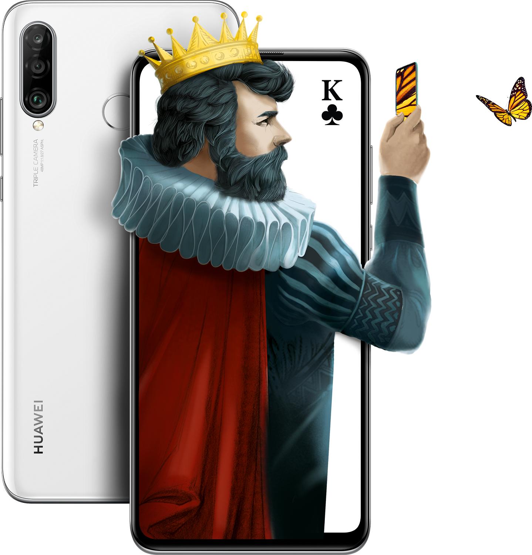 Купить Смартфоны, Смартфон HUAWEI P30 Lite 4/128GB Pearl White (51093PUW)