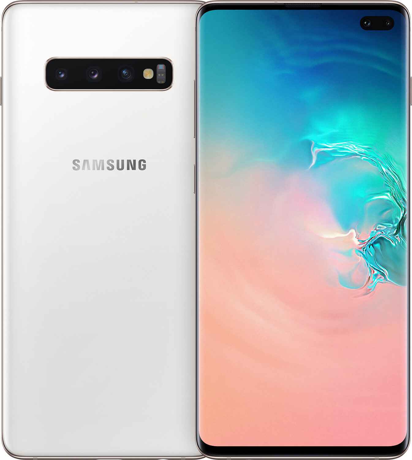 Купить Смартфоны, Смартфон SAMSUNG Galaxy S10 Plus 8/128GB Ceramic White (SM-G975FCWDSEK)