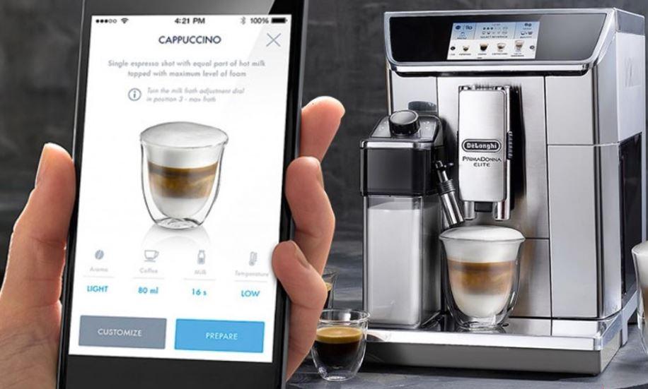 Кофемашина с функцией удаленного приготовления кофе