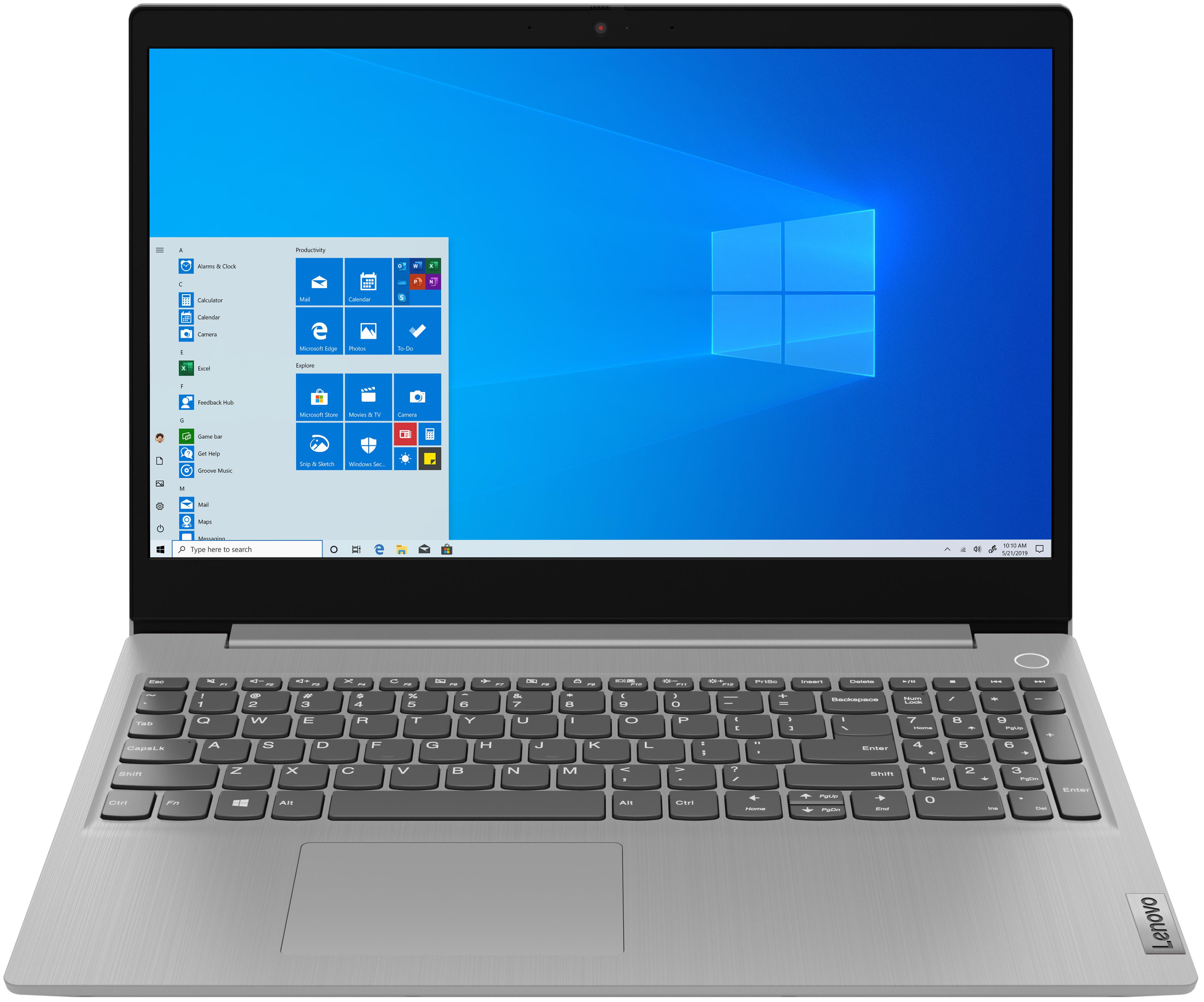 Ноутбук LENOVO IdeaPad 3 15IML05 Platinum Gray (81WB00F9RA)